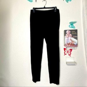 Talbots black pants with ankle zippers